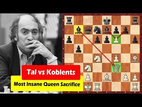 Mikhail Tal's Most Insane Queen Sacrifice
