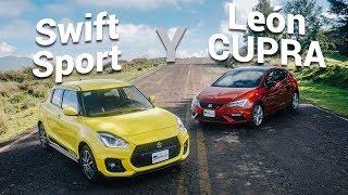 Suzuki Swift Sport y SEAT León CUPRA - Más diversión por tu dinero.