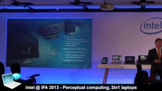 Intel @ IFA 2013 - Perceptual Computing, Bay Trail, Haswell and 2-in-1 laptop