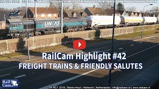 RailCam Highlights #42 Freight Trains & Friendly Salutes thumbnail