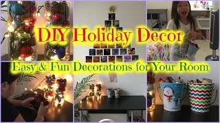 Diy Holiday Décor クリスマスの飾りつけ Easy And Fun Christmas Decorations For Your Room