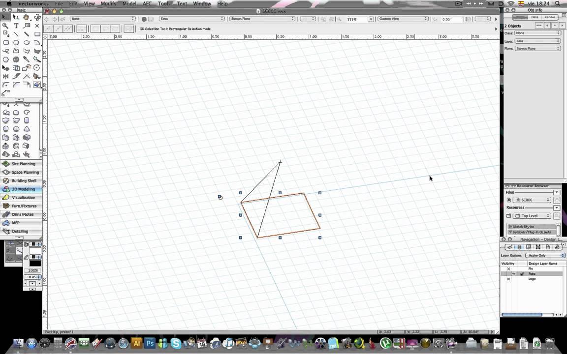 RV - 007 - Estructuras espaciales en Vectorworks - YouTube