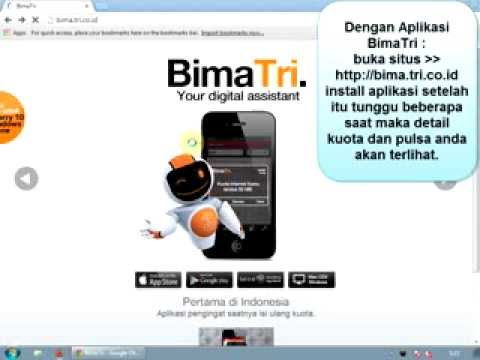 Cara Cek Kuota 3, Internet.tri.co.id, Aplikasi BimaTri, SMS, Cek Pulsa Tri