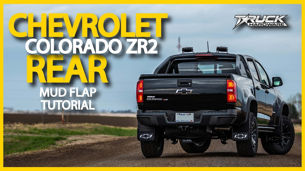 Gatorback 2018 Chevrolet Colorado ZR2 Rear Mud Flap ...