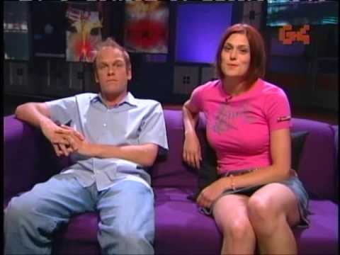 Morgan Webb legs and thighs XPlay 2003 couch