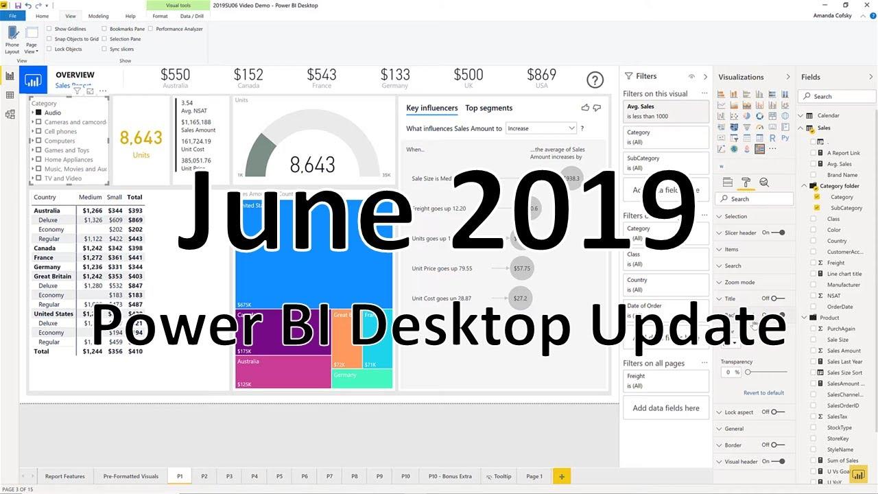 Power BI Desktop Update - June 2019