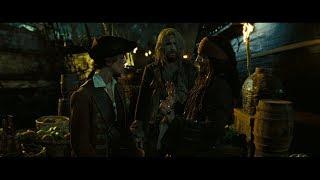 элизабет Суонн встречает Джека Воробья на Тортуге. Компас указывает путь. HD