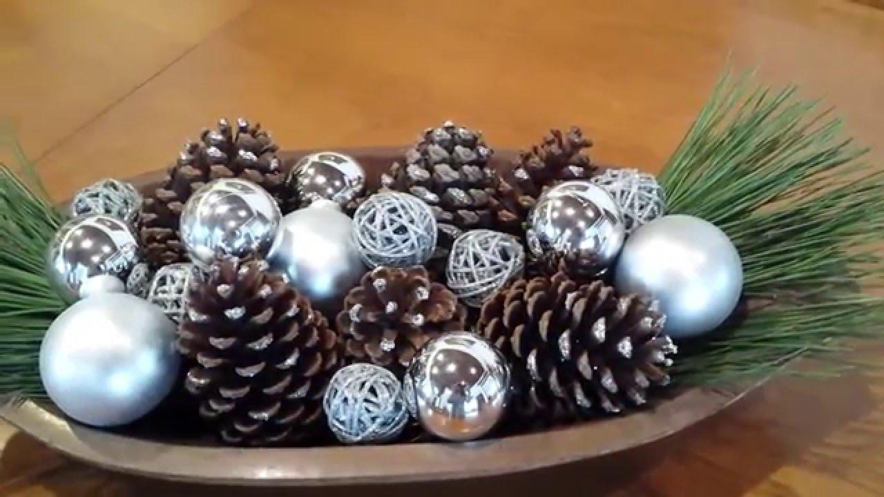 Centro de mesa de Natal - Enfeite para o dia a dia - DIY fácil - YouTube