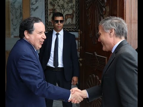 وزير الشؤون الخارجية خميس الجهيناوي يستقبل نظيره الإيطالي أنزو موافرو ميلانازي
