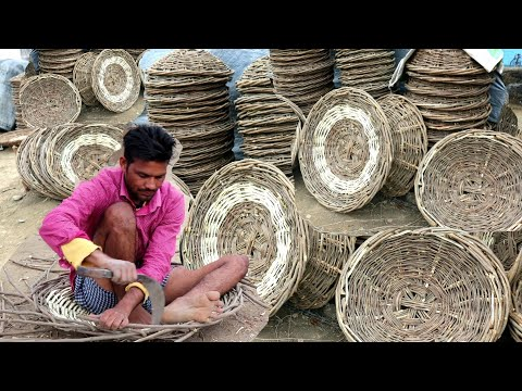 टोकरे वाला Making टोकरा💕BASKET MAKING💕villager life💕village life of Punjab/India/Rural punjab