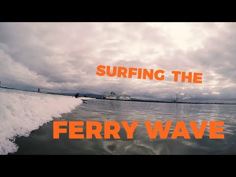 Surfing The Ferry Wave - Dublin Bay