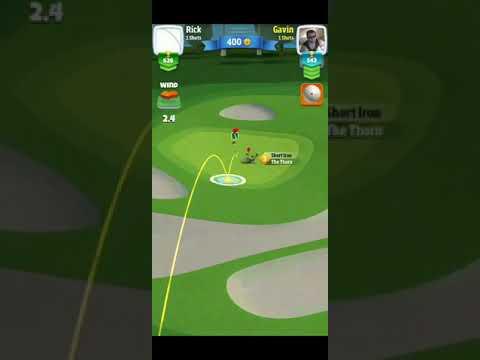 Golf Clash BS shot.