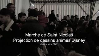 Markt von Saint-Nicolas - projektion Disney animationsfilm vom 4. dezember 2017