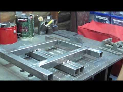 mig welding a chop saw stand part 1