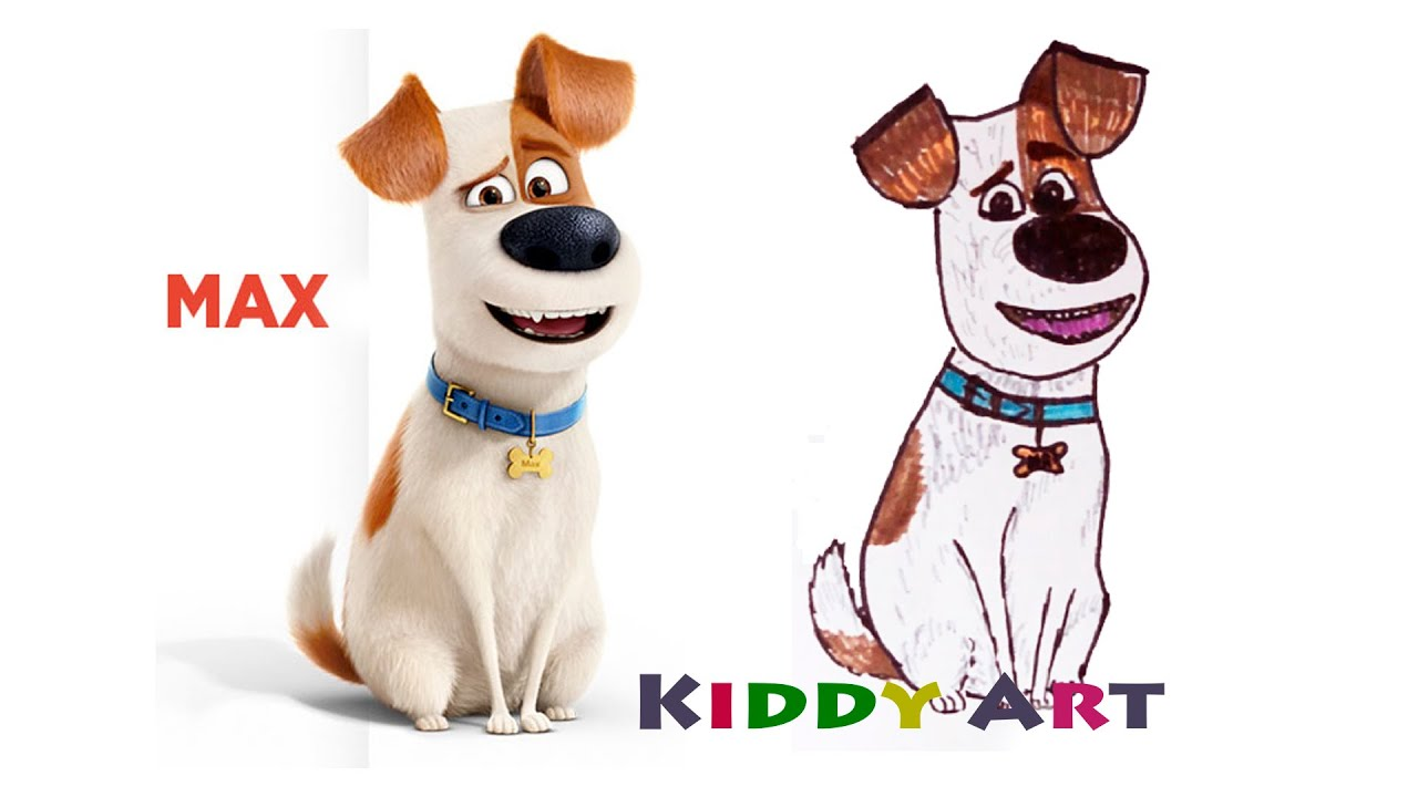 How To Draw Max from Secret Life Of Pets - YouTube