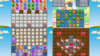 Candy Crush Saga TOFFE TORNADO, CRAZY FROG, POPCORN, And UFO-0 Element