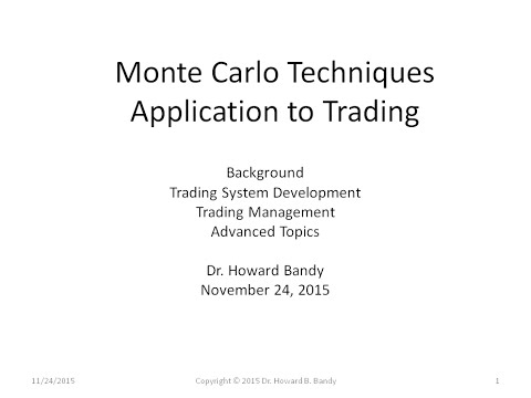 Monte Carlo Techniques with Application to Trading