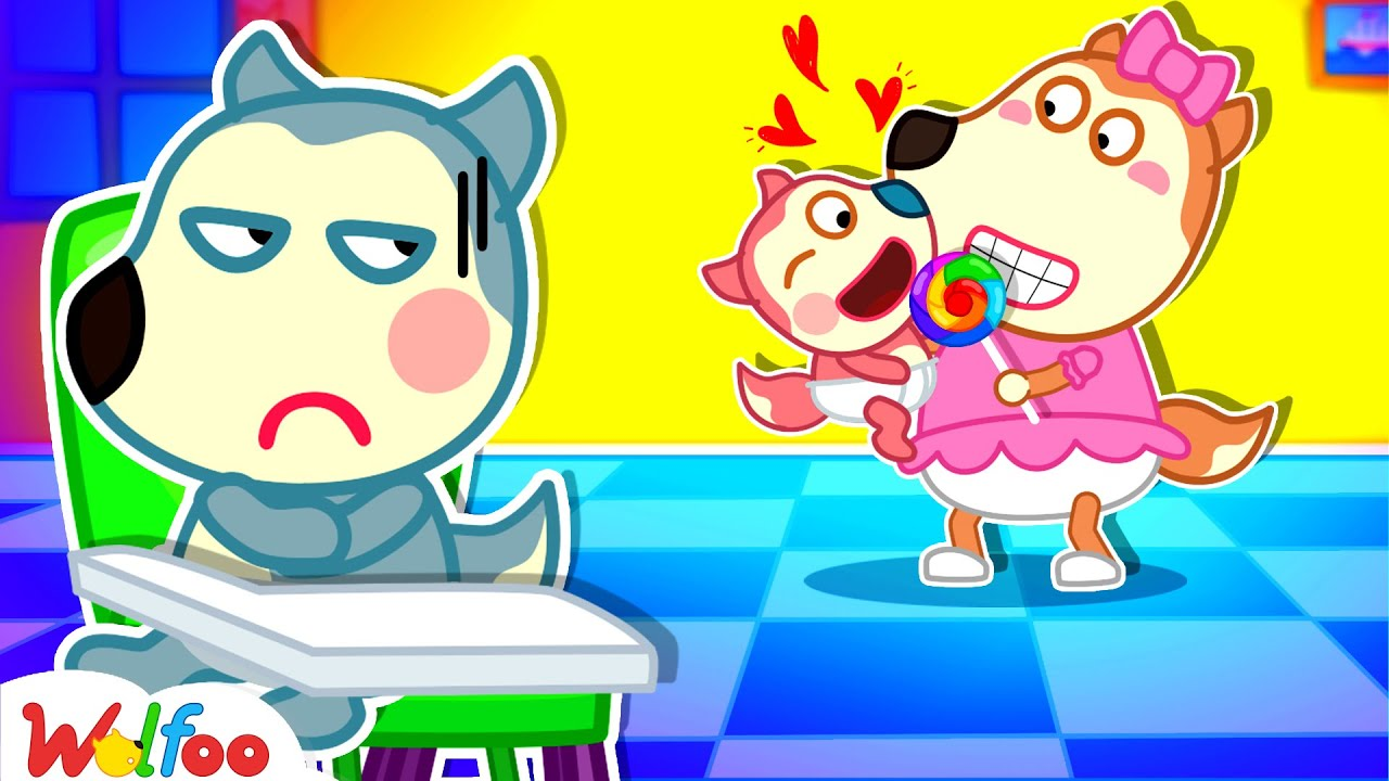Download Wolfoo, Don't Be Angry with Lucy! - Don't Feel Jealous of Baby - Wolfoo Kids Stories | Wolfoo Family