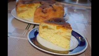 Нереально вкусный пирог с абрикосом и яблоками в мультиварке