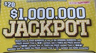 BIG WIN!!.$1,000,000 JACKPOT LOTTERY TICKET SCRATCH OFF!!