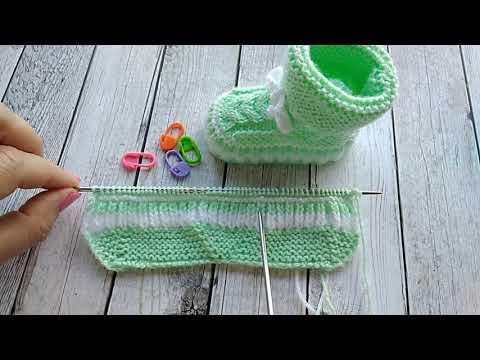 Вязание детские пинетки спицами и крючком