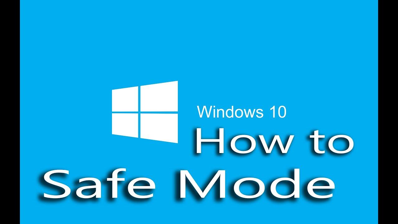Windows 10 Safe Mode - YouTube