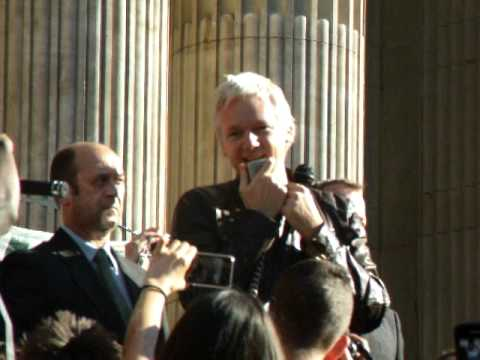 "Julian Assange ""We are all individuals"" Speech @OccupyLSX"