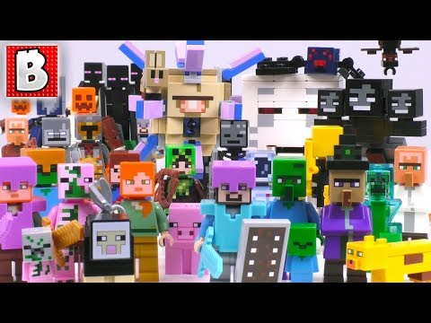 Every LEGO Minecraft Minifigure, Creature & Mob Ever Made!!! | 2018 Collection Review