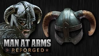 Dragonborn's Iron Helmet (Skyrim) - MAN AT ARMS: REFORGED(Which weapon will be next? ▻▻ Subscribe! http://bit.ly/AWEsub Every other Monday, our team of blacksmiths and craftsman will be building some of your ..., 2014-11-03T18:05:00.000Z)