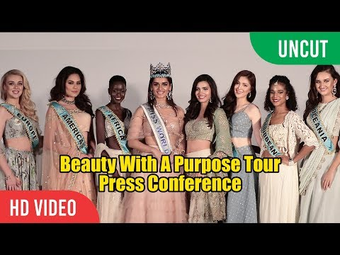 UNCUT - Manushi Chhillar's Beauty With A Purpose Tour | Press Conference