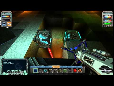 Fortresscraft:Evolved - Season 2 - Episode 55 - lift shaft and ore smelter