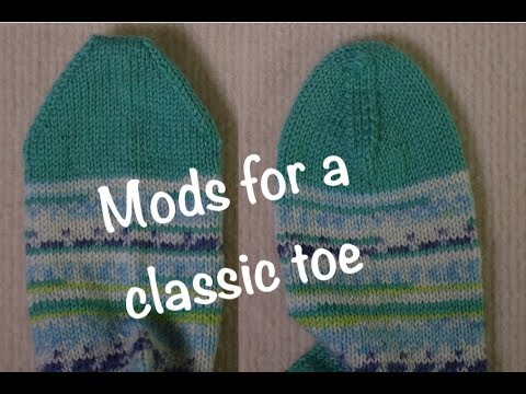 How To Knit And Modify A Wedge Sock Toe // Technique Tuesday