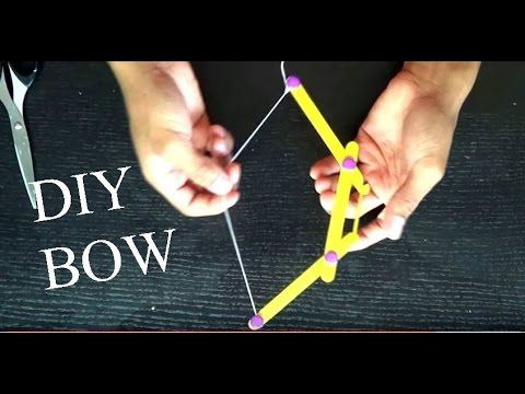 How To Make A Mini Bow And Arrow Out Of Popsicle Sticks