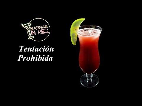 como hacer el coctel TENTACION PROHIBIDA