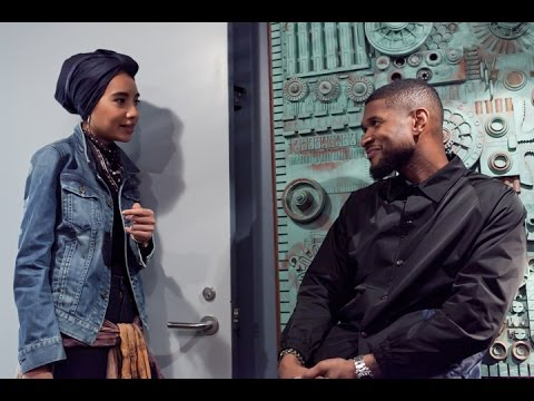 First time perfoming Crush with Usher