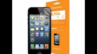 QUICK REVIEW: SGP Spigen Ultra Fine screen protector for iPhone 5