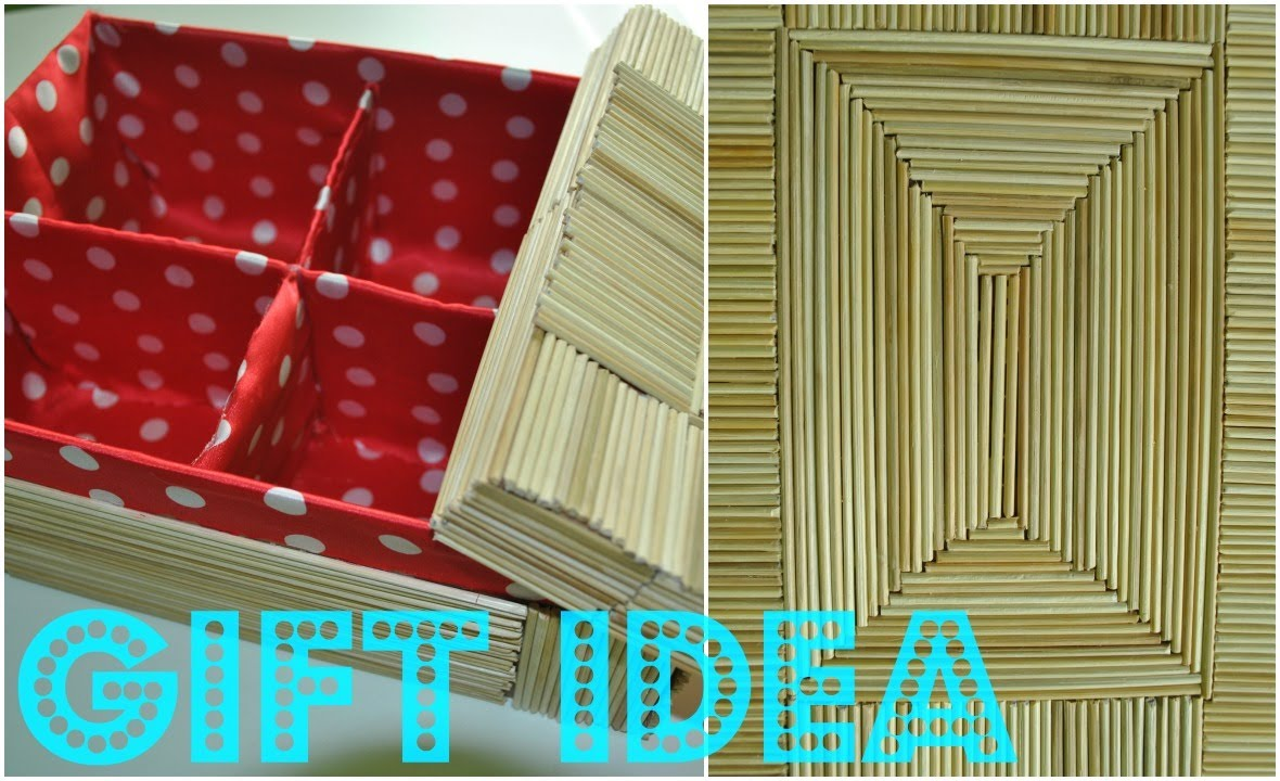 How To Decorate A Box With Bamboo Sticks Gift Idea
