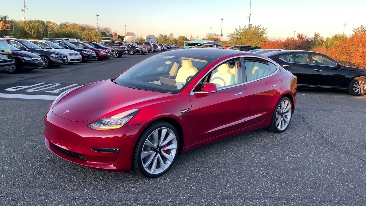 TESLA MODEL 3 PERFORMANCE-RED (REVIEW) 2019 - YouTube