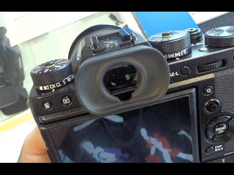 Fujifilm X-T2 close look, locking doors, dual card slot and battery tray