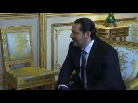 Saad Hariri Paris'e gelerek Macron ile görüştü