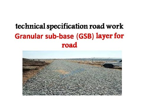 Technical specification road work  Granular sub-base(GSB)layer for  road