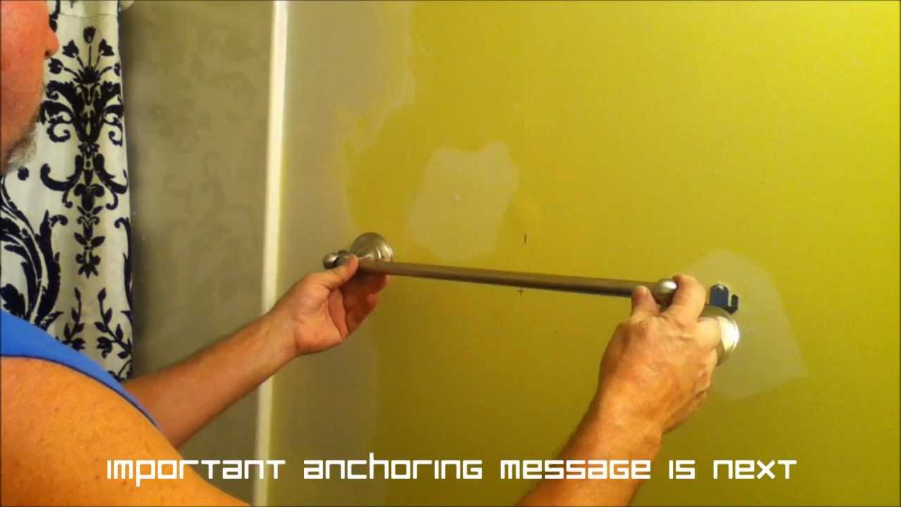 Standard height for towel bar in bathroom - How To Install An 18 Inch Towel Bar