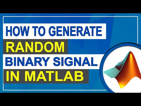How To Generate Random Binary Signal | MATLAB Tutorial For Beginners