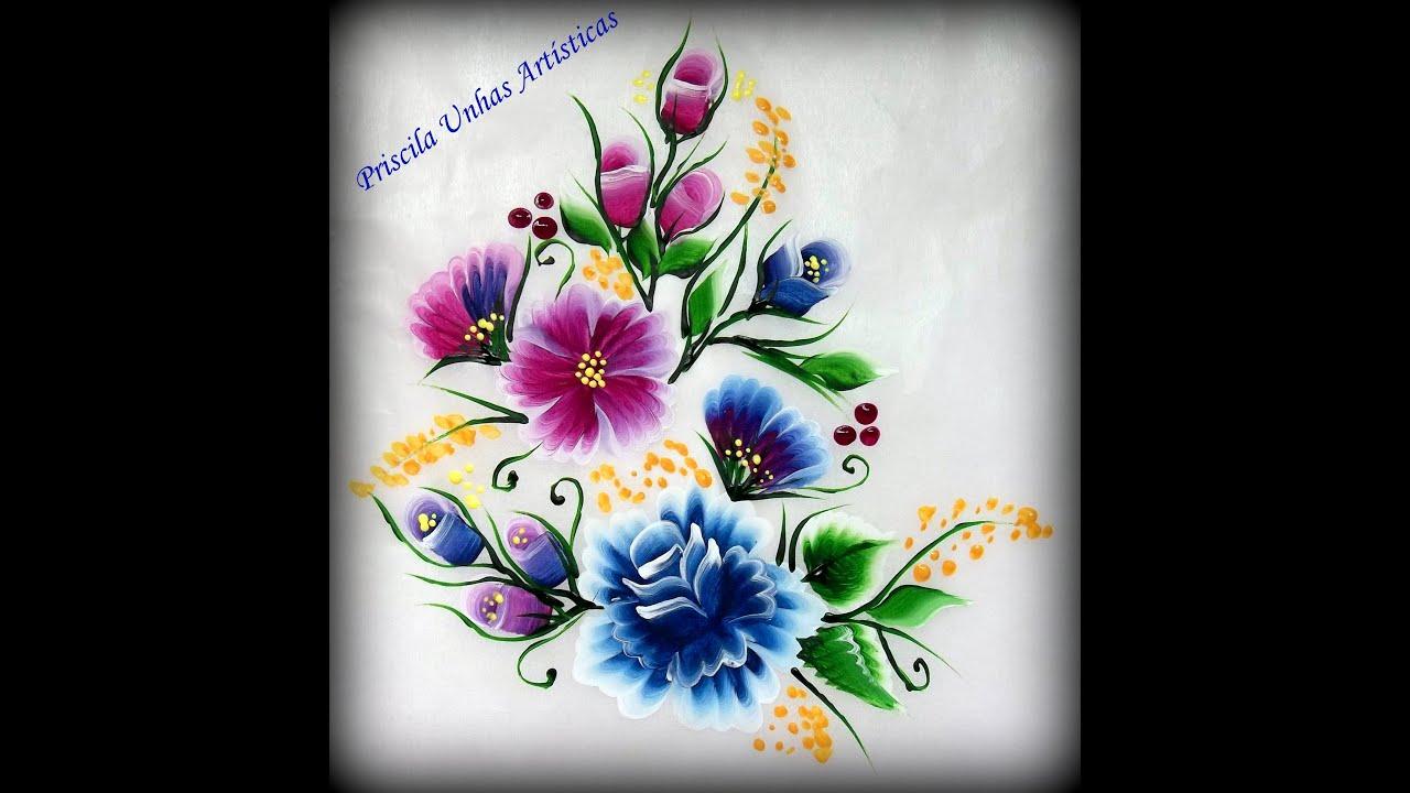 Armario Tipo Nicho ~ Floral Priscila Unhas Artísticas
