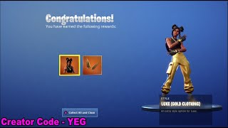 "'NEW' UNLOCKING LUXE ""GOLD OUTFIT - GOLD HIGH CALIBER"" sur Fortnite Battle Royale Saison 8"