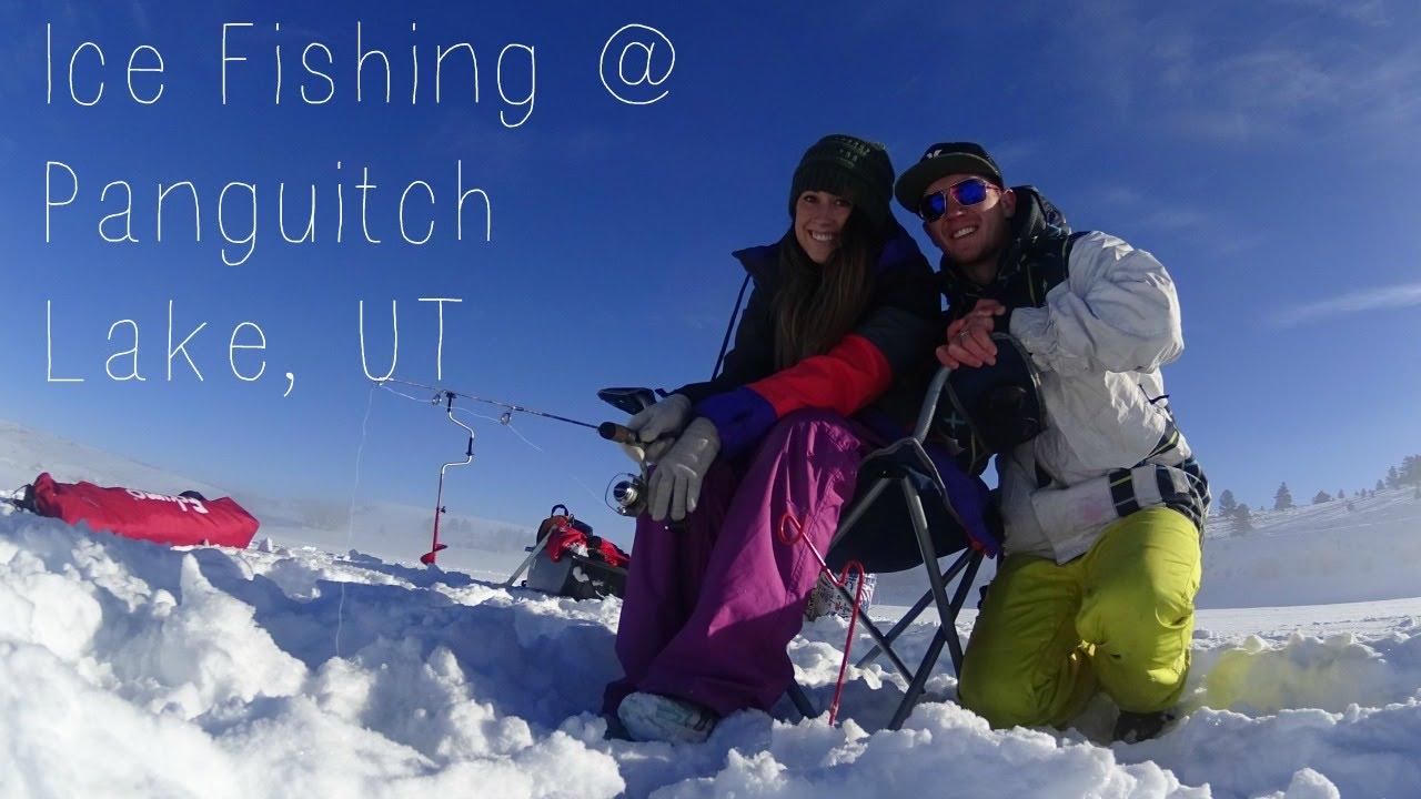 Ice fishing at panguitch lake utah youtube for Panguitch lake fishing report