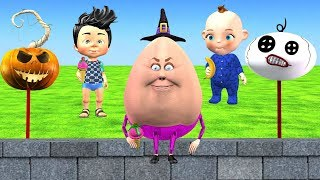 Funny Halloween Songs For Children - Humpty Dumpty Nursery Rhyme For Kids