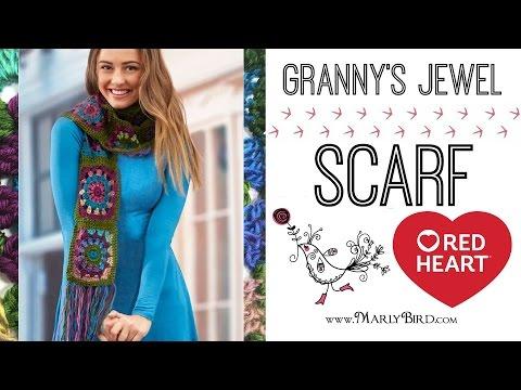 How to Crochet Granny's Jewel Scarf