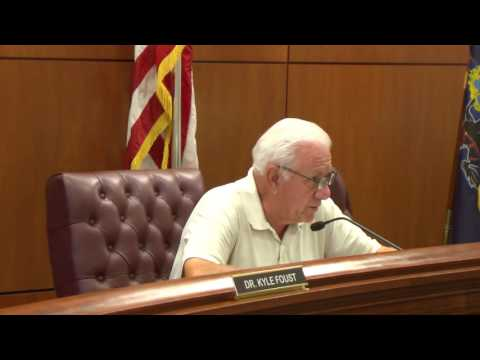 Erie County Pennsylvania, County Council Meeting -  August 11, 2016