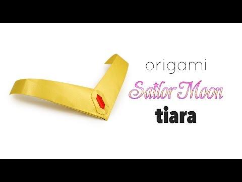 Origami Sailor Moon Tiara Tutorial ♥︎ DIY ♥︎ Paper Kawaii
